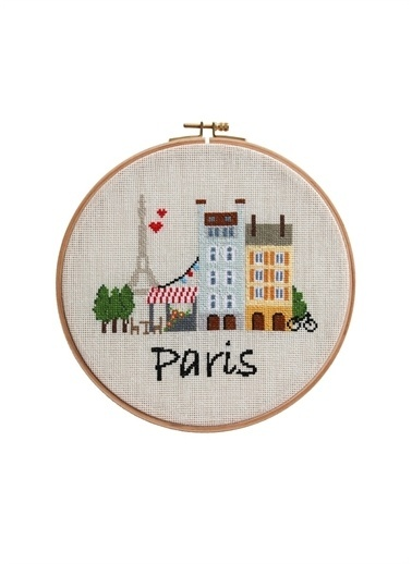 Boyner Evde Gh045 23 Cm Paris Baskılı Duvar Panosu Ekru